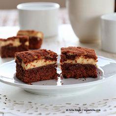 Tiramisu Cheesecake Brownies. #Glutenfree #Vegan #Nutfree dessert