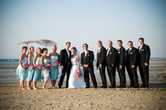 Beachy bridal party. Laurie & Chris.