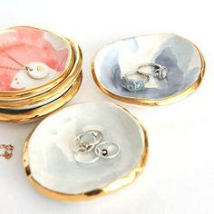 watercolor ring dish