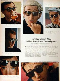 Woody Allen in a vintage Foster Grant ad.