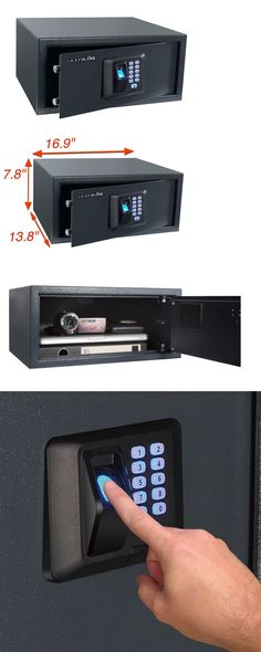 cabinets and safes biometric fingerprint safe combination password lock gun vault office home