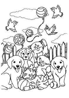 Lisa Frank coloring pages Animals