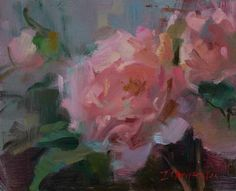 Ingrid Christensen Artworks Gallery Dandelion Oil, Impressionism, New Work, Still Life, Pink And Green, Art Boards, Peonies, Watercolor, Gallery