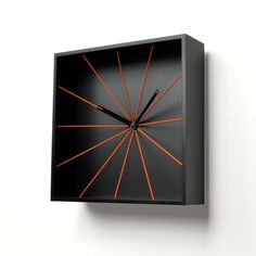 Prospettivo Wall Clock Black