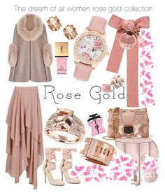 """The dream of all women rose gold collection"" by dns328 on Polyvore featuring Chanel, Effy Jewelry, Hermès, Charter Club, Jimmy Choo, Miss Selfridge, Boohoo, Bond No. 9, Yves Saint Laurent and ibride"