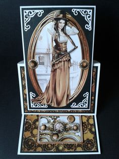 Debbie Moore SteamPunk Debbie Moore, Steampunk Cards, Art Deco Cards, Hunkydory Crafts, Craft Cards, Card Crafts, I Card, Cardmaking, Projects To Try