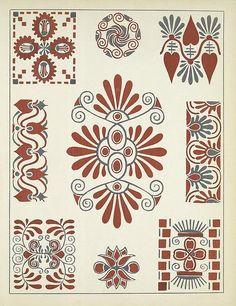 Art Deco Vignettes - Henri Gillet 1922 e Art Floral, Motif Floral, Motifs Art Nouveau, Motif Art Deco, Folk Art Flowers, Flower Art, Web Gallery Of Art, Greek Art, Arts And Crafts Movement