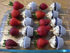 Cupcake kebabs live on in Rexburg, Idaho Strawberry Cupcakes, Mini Cupcakes, Fruit Kebabs, Kabobs, Take The Cake, Pretty Cakes, Sugar Cookies, Bakery, Favorite Recipes