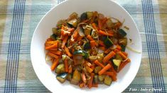 Legumes salteados no wok