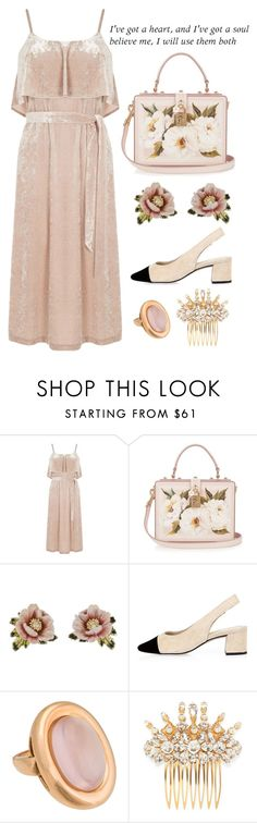 """""""Heart + Soul"""" by cherieaustin on Polyvore featuring Warehouse, Dolce&Gabbana, Les Néréides, River Island and Poiray Paris"""