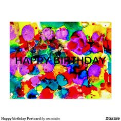 Shop Happy birthday Postcard created by artmiabo. Personalize it with photos & text or purchase as is! Birthday Quotes For Daughter, Happy Birthday Sister, Daughter Birthday, Friend Birthday, Birthday Greetings, Birthday Cards, Birthday Gifts, 21 Birthday, Birthday Wishes