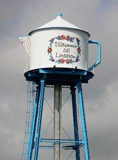The Lindstrom Tea Kettle Water Tower, Lindstrom, Minn.