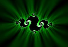Green and black swirls