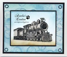 Crafting Queen: Steam Train card Third Coast Stamps