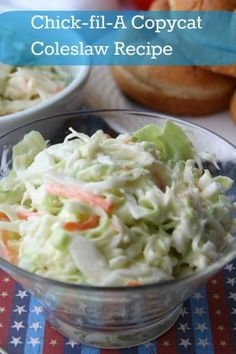 Yummy copycat recipe of the infamous but now discontinued Chick-fil-A coleslaw recipe.