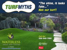 Most often this shine is due to the protectant UV coating applied to the surface of more primitive artificial grass products. We eliminate fake shine by building UV inhibitors right into an advanced 3D shaped grass fiber – greatly reducing reflection. Contact us today to learn more about how our synthetic grass is the most technologically advanced, realistic, and environmentally friendly turf being installed in the Central Valley!  #HERO #CADrought #SaveWater