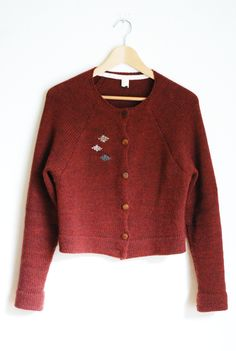 primoeza five button cardigan - brick