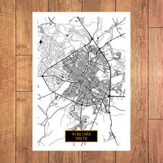 ribeiro preto brazil canvas large art city map by jacktravelmap