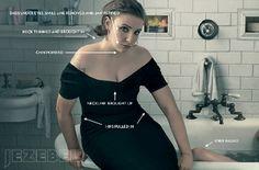 Le blog de Letilor: Polémique : les photos retouchées de Lena Dunham dans Vogue février 2014