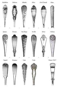 How To Identify Oneida Flatware Patterns Patterns