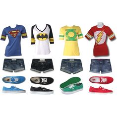 """Superheroes Unite!"" by jessicamariec on Polyvore. Easy group costume."