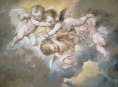 Old Paintings of Angels   robert simon fine art old master and 19th c paintings and drawings