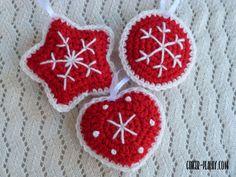 Traditional Scandinavian Ornaments   Free Crochet Pattern
