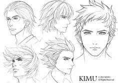 Male Face Practice by kimuliao.deviantart.com on @deviantART