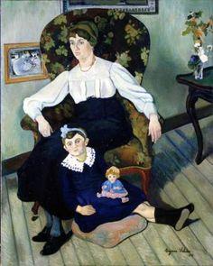 Suzanne Valadon (1865 – 1938, French) http://iamachild.files.wordpress.com/2012/03/marie-coca-et-sa-fille.jpg