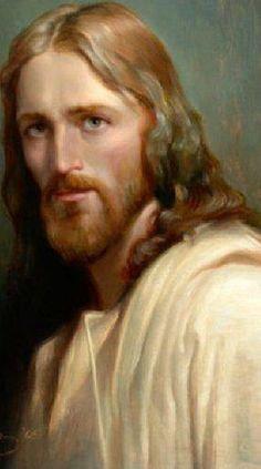 """Jésus- Son caractère et son aspect:  M.V: """"Il est ici avec ses mains belles et longues et effilées, d'un blanc de vieil ivoire, avec son beau visage allongé et pâle où resplendissent ses yeux dominateurs et doux de saphir sombre entre les cils épais d'un châtain étincelant de blond roux. Il est ici avec ses beaux cheveux longs blonds et souples, d'un blond roux plus vif dans les parties éclairées et plus sombre dans le fond des plis.""""  _______  """" Jésus est enraciné dans une culture : son…"""