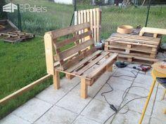 2 Person Comfy Pallet Garden Seat