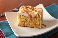 Dulce de Leche Tres Leches Cake recipe - Tres Leches Cake means the cake of three milks. This one has the extra added bonus of deep caramel flavor from the dulce de leche.