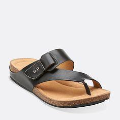 3b83e600237921 Perri Coast Black Leather Toe Ring Sandals