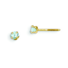 Lex /& Lu 14k Yellow Gold Madi K 3mm Blue Topaz Birthstone Baby Ring