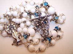 Rosary Of The Ascension Of Mary Into Heaven- Solid Silver
