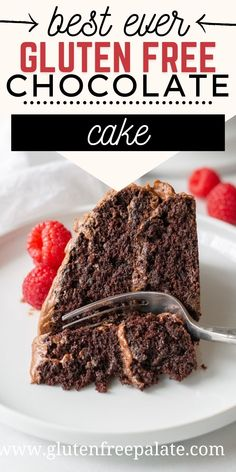 There's a reason readers are saying this is the best ever gluten free chocolate cake. Perfect texture, easy to make, and it's made with simple ingredients. #glutenfree #cake #chocolatecake Gluten Free Bars, Easy Gluten Free Desserts, Gluten Free Sides Dishes, Gluten Free Brownies, Gluten Free Baking, Gluten Free Recipes, Gluten Free Chocolate Cupcakes, Gluten Free Cupcakes, Dessert Recipes