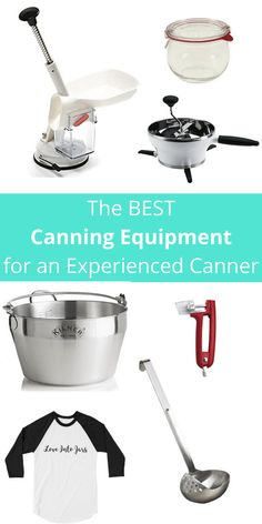 The Best Canning Equipment for an Experienced Canner | This lists all the canning supplies for a canner who has a season or two under their belt and shares the tools that make their hobby more fun...gift one of these items and I bet they will share a jar with you!