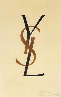 logo YSL 1961 par Adolphe Mouron Cassandre