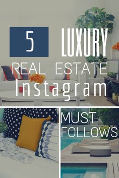 Must follow instagram accounts for luxury real estate across the world. Shop the looks and get home decor inspiration!