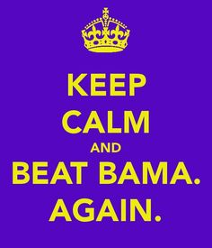 Beat Bama. Again.
