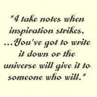 Write it down