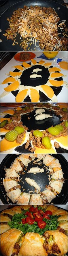 FooF Drink: Crescent Cheeseburger Ring - skip the pickles ;)