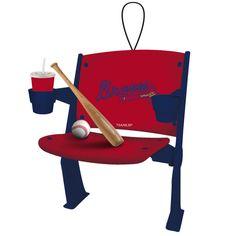 Atlanta Braves Stadium Chair Ornament