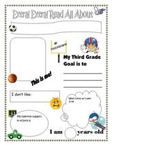 Third grade All About Me Poster (Sports Theme)