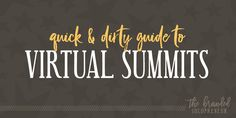 This guide breaks down the 12 step process for planning, creating, and launching your virtual summit in 90 days, with a bundle of free resources to grab.