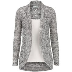 Black and White speckled cardigan (980 UYU) ❤ liked on Polyvore featuring tops, cardigans, shirts, sweaters, jackets, black and white shirt, white and black cardigan, black white top, black and white top and black white cardigan