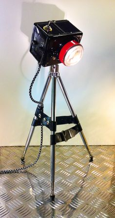 """Upcycled Steampunk lamp by Henry Walta. """"Fotomecano"""" 2014"""