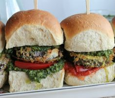 Meatless Monday: Eggplant Sliders with Arugula Pesto by