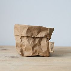 Uashmama paper bag that feels like leather and washes like fabric. Designed by Le Sorelle