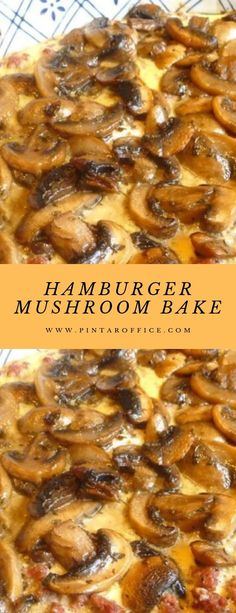 You Have Meals Poisoning More Normally Than You're Thinking That Hamburger Mushroom Bake Hamburger Dishes, Beef Dishes, Food Dishes, Hamburger Casserole, Main Dishes, Hamburger Mushroom Recipe, Mushroom Recipes, Ground Beef Mushroom Recipe, Hamburger Meat Recipes Ground